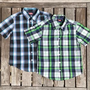 Wrangler M(8) Plaid Checked Short Sleeve Shirt Lot